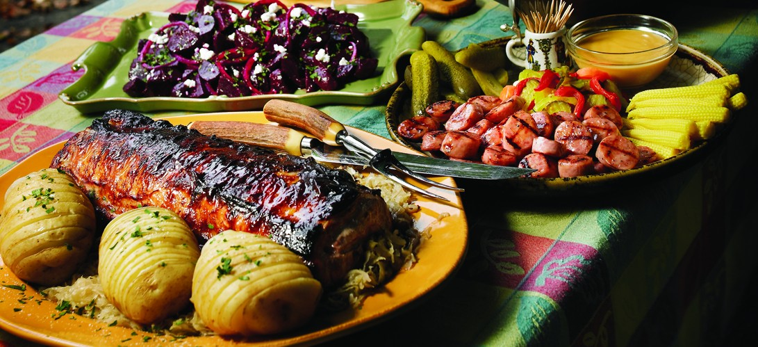 Cuban Rotisserie Pork Loin With Peppers And Onions Recipes ...